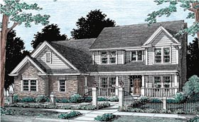 Traditional House Plan 68447 Elevation