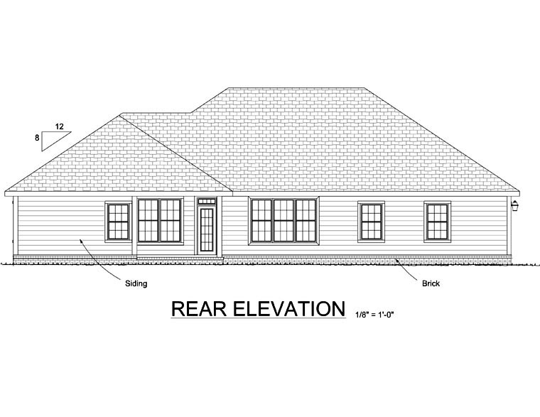 Country House Plan 68448 Rear Elevation