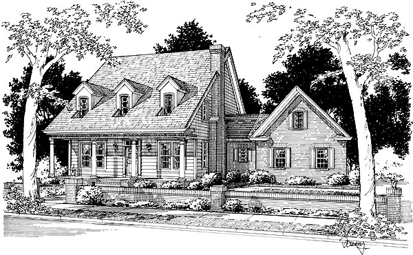 Cape Cod Country House Plan 68451 Elevation