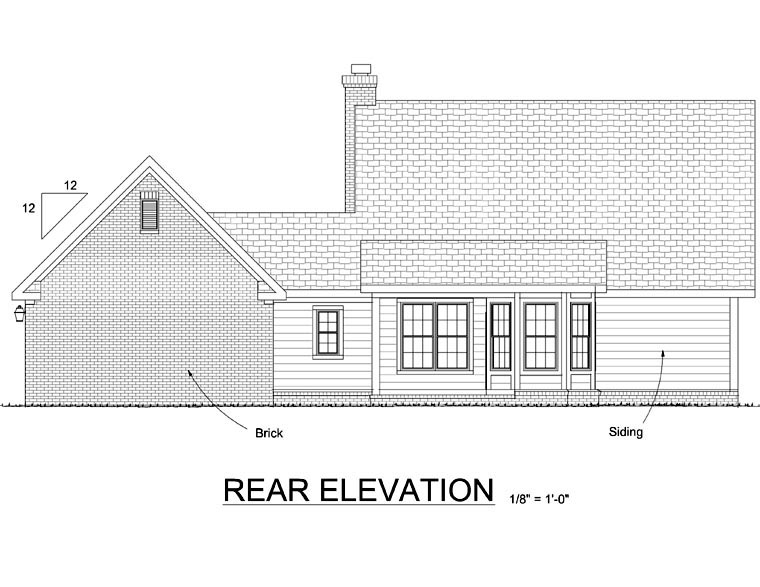 House Plan 68451 | Cape Cod Country Style Plan with 1733 Sq Ft, 3 Bedrooms, 3 Bathrooms, 2 Car Garage Rear Elevation