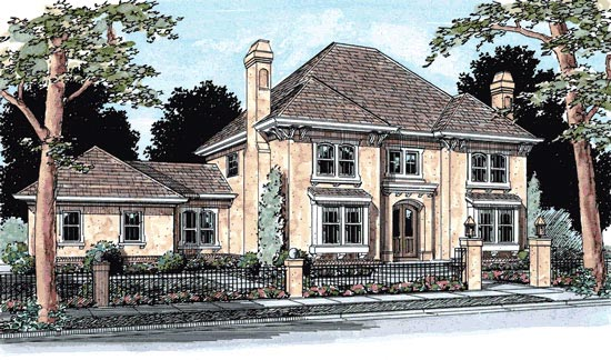 French Country House Plan 68453 with 4 Beds, 4 Baths, 3 Car Garage Elevation