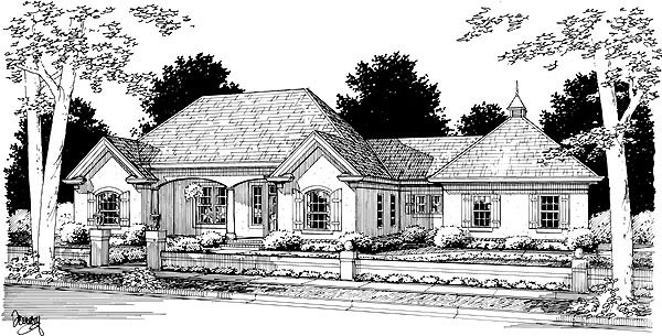 French Country House Plan 68456 Elevation