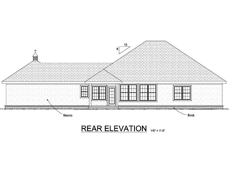 French Country House Plan 68456 Rear Elevation