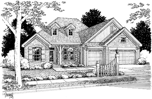 Country Traditional House Plan 68457 Elevation