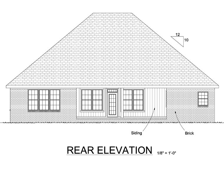 Country Traditional House Plan 68457 Rear Elevation