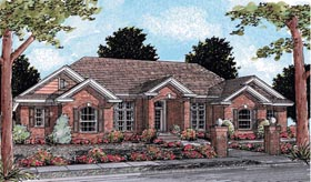 European , Traditional House Plan 68459 with 4 Beds, 3 Baths, 3 Car Garage Elevation
