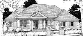 Colonial Traditional House Plan 68460 Elevation