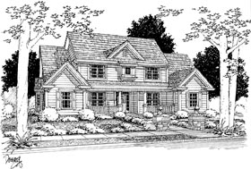 House Plan 68463 | Traditional Style Plan with 2782 Sq Ft, 4 Bedrooms, 5 Bathrooms, 2 Car Garage Elevation