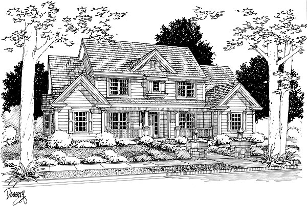 Traditional House Plan 68463 Elevation