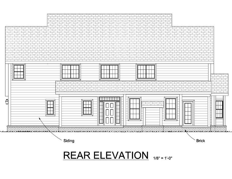 Traditional House Plan 68463 Rear Elevation