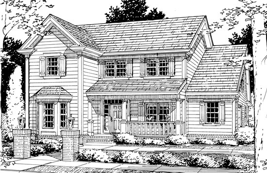 Traditional House Plan 68464 Elevation