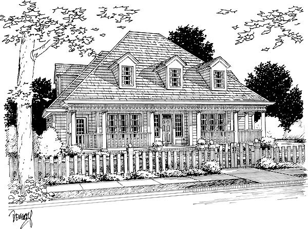 Colonial French Country House Plan 68465 Elevation