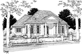 Colonial Greek Revival House Plan 68466 Elevation
