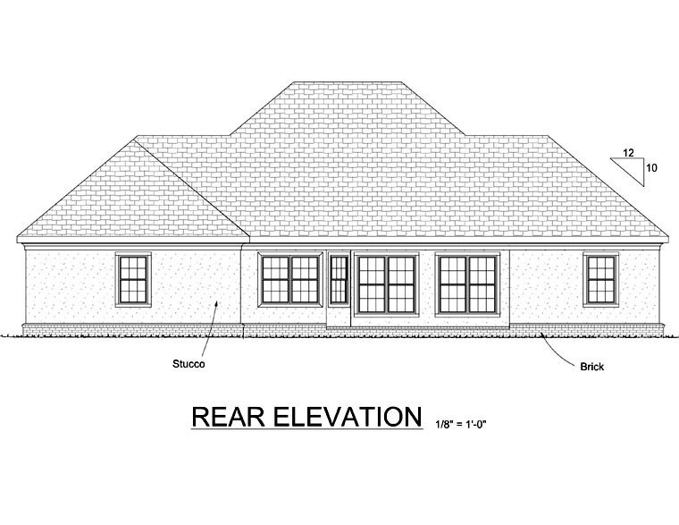 Colonial Greek Revival House Plan 68466 Rear Elevation