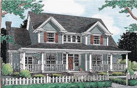 House Plan 68468 | Country Farmhouse Southern Style Plan with 2185 Sq Ft, 3 Bedrooms, 3 Bathrooms, 2 Car Garage Elevation
