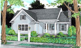 Cottage , Traditional House Plan 68470 with 3 Beds, 2 Baths, 2 Car Garage Elevation
