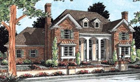 Colonial Southern House Plan 68471 Elevation