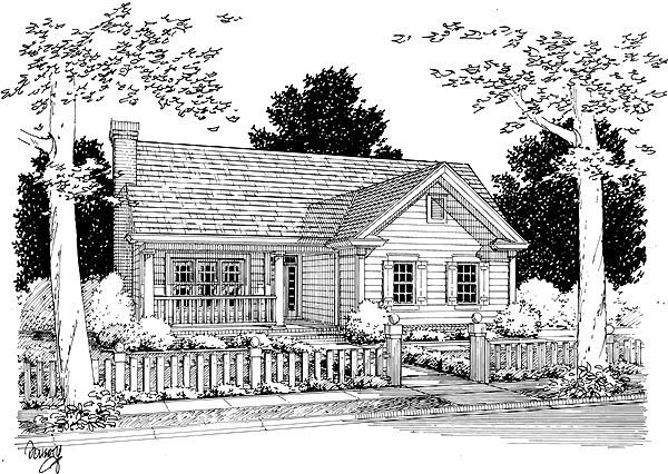 Country House Plan 68472 Elevation