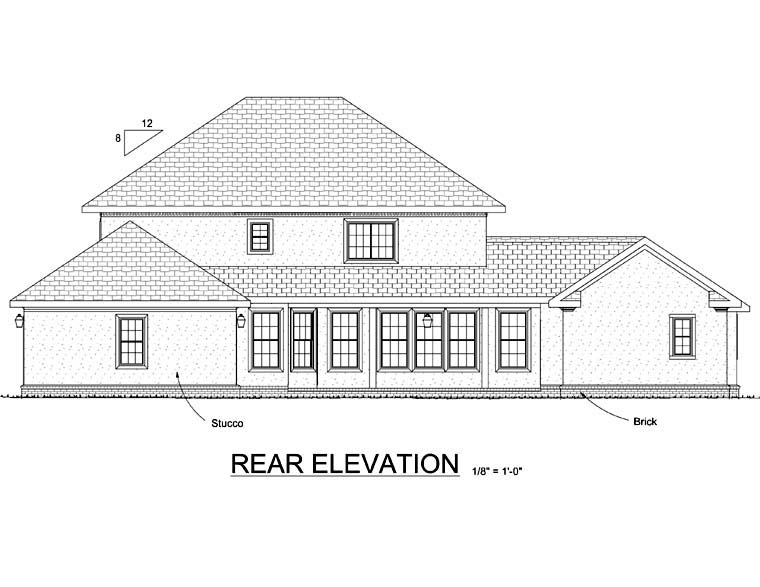 Colonial Southern House Plan 68477 Rear Elevation