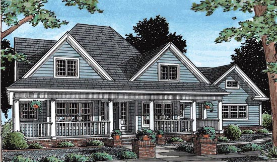 House Plan 68478 | Country Style Plan with 2546 Sq Ft, 4 Bedrooms, 4 Bathrooms, 3 Car Garage Elevation