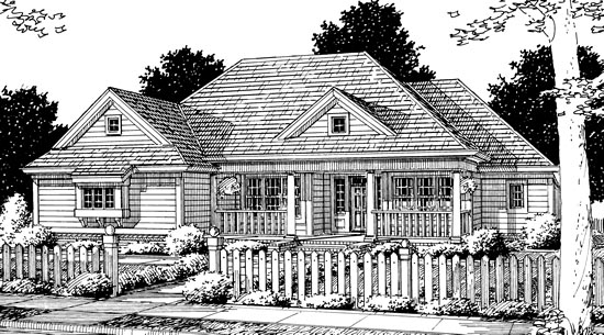 Traditional House Plan 68479 Elevation