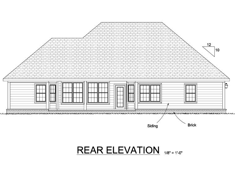 Traditional House Plan 68479 Rear Elevation