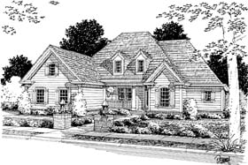 House Plan 68480 | Traditional Style Plan with 2318 Sq Ft, 4 Bedrooms, 3 Bathrooms, 3 Car Garage Elevation