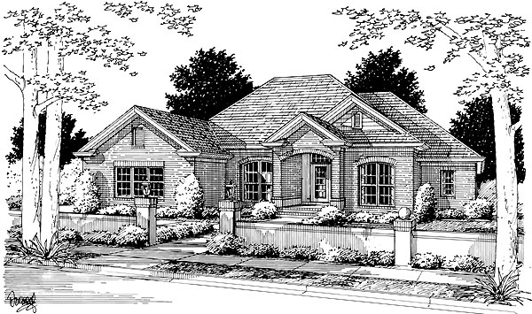 House Plan 68481 | European Style Plan with 2544 Sq Ft, 4 Bedrooms, 3 Bathrooms, 2 Car Garage Elevation