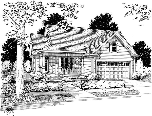 Traditional House Plan 68484 Elevation