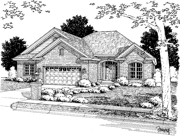 European House Plan 68488 Elevation