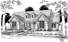House Plan 68490 | Country Style Plan with 2592 Sq Ft, 4 Bedrooms, 3 Bathrooms, 3 Car Garage Elevation