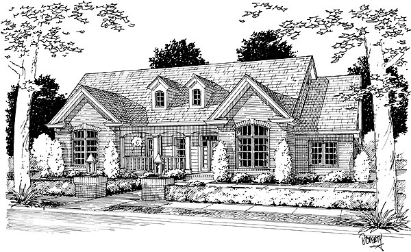 Country House Plan 68490 Elevation