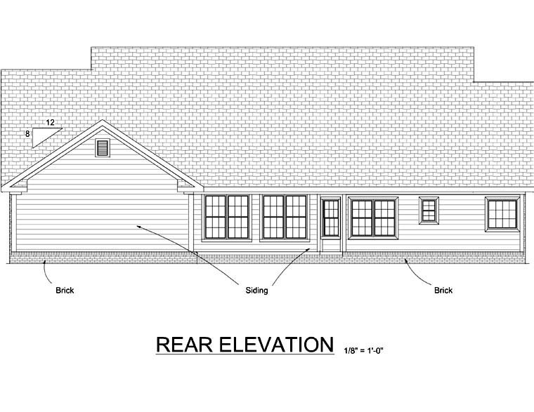 Country House Plan 68490 Rear Elevation