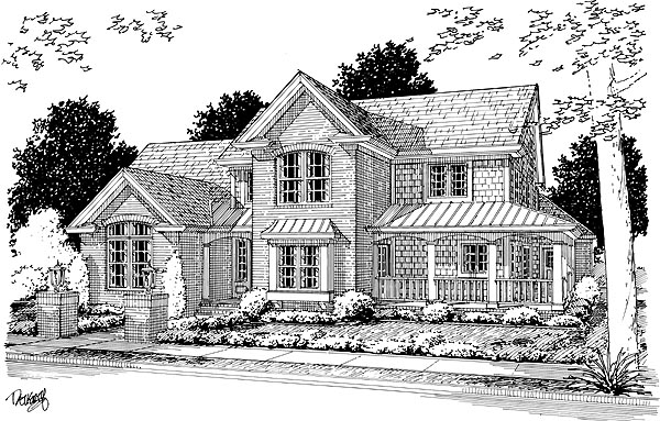 Country Farmhouse House Plan 68492 Elevation