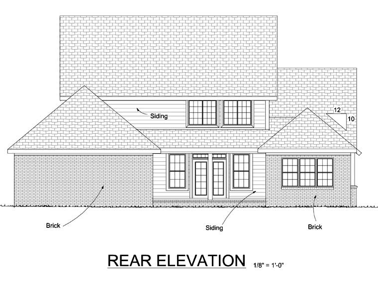 Country Farmhouse House Plan 68492 Rear Elevation