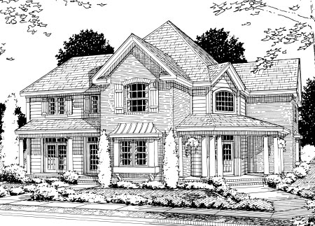 Country Farmhouse House Plan 68495 Elevation