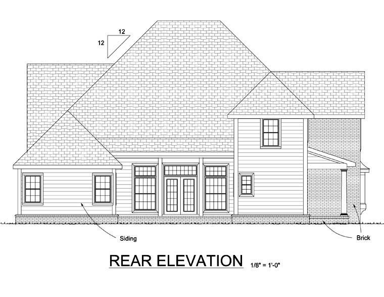 Country Farmhouse House Plan 68495 Rear Elevation