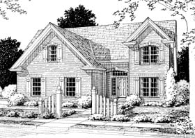 Country , European House Plan 68498 with 4 Beds, 4 Baths, 2 Car Garage Elevation