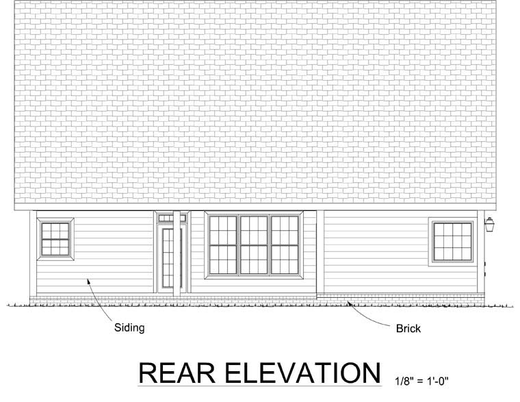 Country European House Plan 68498 Rear Elevation