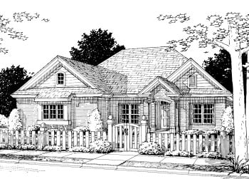 Traditional House Plan 68499 Elevation