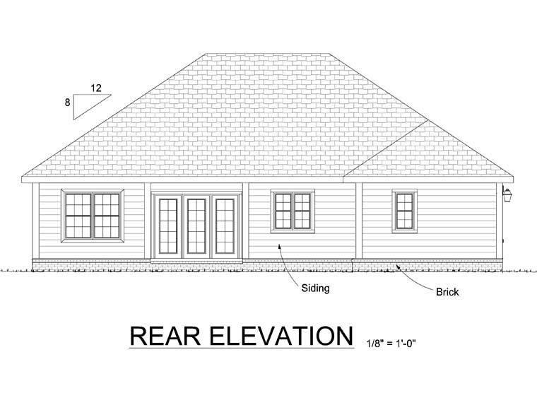Traditional House Plan 68499 Rear Elevation