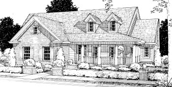 Country House Plan 68500 Elevation