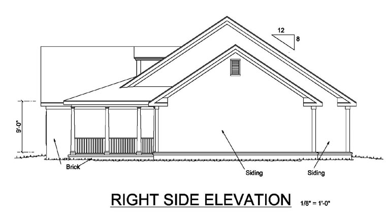 Country House Plan 68500 with 4 Beds, 2 Baths, 2 Car Garage Picture 2