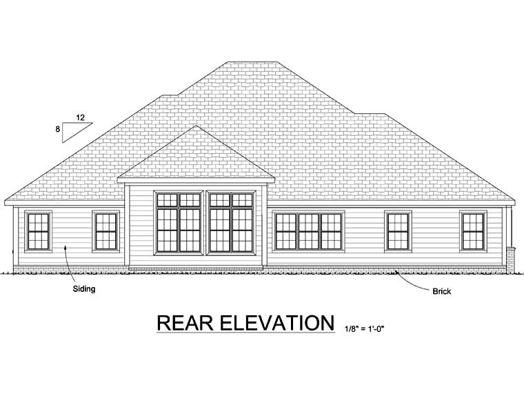 European Victorian House Plan 68501 Rear Elevation