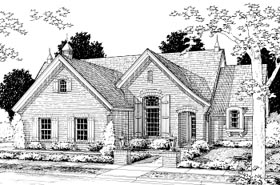 European House Plan 68503 Elevation