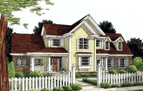 Craftsman , Farmhouse House Plan 68505 with 3 Beds, 3 Baths, 3 Car Garage Elevation