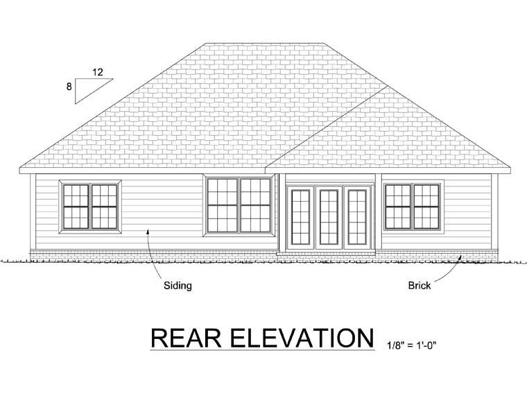 Victorian House Plan 68507 Rear Elevation