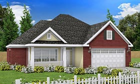 Traditional House Plan 68508 with 3 Beds, 2 Baths, 2 Car Garage Elevation