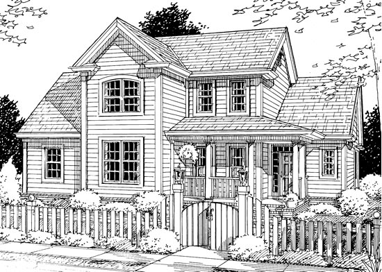 Traditional House Plan 68509 with 3 Beds , 3 Baths , 2 Car Garage Elevation