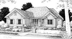 Traditional House Plan 68510 Elevation